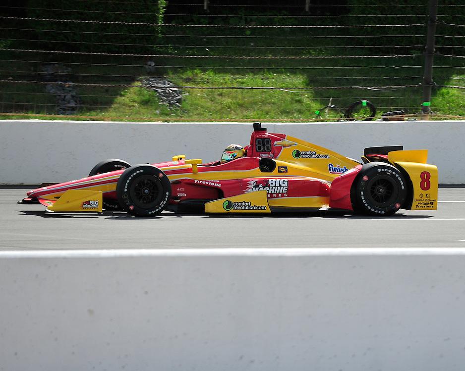 Sage Karam injured in a crash on August 23rd, 2015, at Pocono Raceway in Long Pond. (Chris Post | lehighvalleylive.com)