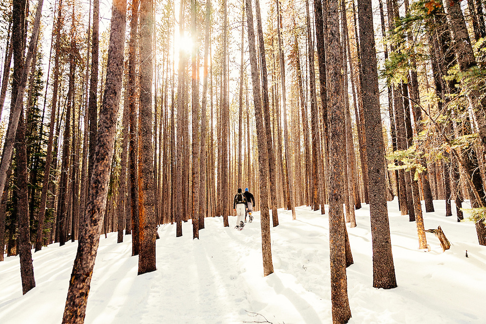 Snowshoeing to Lily Pad Lake in Breckenrige, Colorado