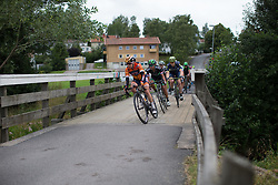 Megan Guarnier (USA) of Boels-Dolmans Cycling Team leads the chase  in the penultimate short lap of the Crescent Vargarda - a 152 km road race, starting and finishing in Vargarda on August 13, 2017, in Vastra Gotaland, Sweden. (Photo by Balint Hamvas/Velofocus.com)