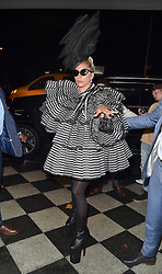 Lady Gaga is seen leaving a pre Met Gala Party in New York, Gaga was seen partying with Harry Styles, Serena Williams, Sienna Miller, James Cordon at 172 Sullivan Street NY. 05 May 2019 Pictured: Lady Gaga. Photo credit: Neil Warner/MEGA TheMegaAgency.com +1 888 505 6342