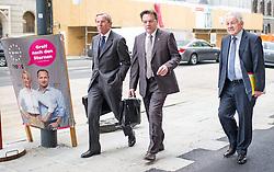 26.05.2014, OeVP Bundespartei, Wien, AUT, OeVP, Vorstandssitzung der OeVP Bundespartei. im Bild v.l.n.r. Landeshauptmann Salzburg Wilfried Haslauer, Landeshauptmann Tirol Guenther Platter und Landeshauptmann Oberoesterreich Josef Puehringer // before board meeting of OeVP at federal party of OeVP in Vienna, Austria on 2014/05/26. EXPA Pictures © 2014, PhotoCredit: EXPA/ Michael Gruber