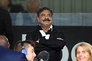 Fulham owner Shahid Khan watches on from the stand. EFL Skybet championship match, Fulham v Middlesbrough at Craven Cottage in London on Saturday 23rd September 2017<br /> pic by Steffan Bowen, Andrew Orchard sports photography.