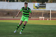 Forest Green Rovers Jack Fitzwater(16) on the ball during the Pre-Season Friendly match between SC Farense and Forest Green Rovers at Estadio Municipal de Albufeira, Albufeira, Portugal on 25 July 2017. Photo by Shane Healey.