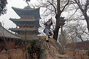 Shaolin Monastery or Shaolin Temple, a Chán Buddhist temple on Mount Song, near Dengfeng, Zhengzhou, Henan province, China