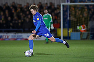 AFC Wimbledon defender Mads Bech Sorensen (26) passing the ball during the EFL Sky Bet League 1 match between AFC Wimbledon and Burton Albion at the Cherry Red Records Stadium, Kingston, England on 28 January 2020.