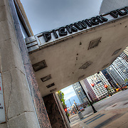 The old Pickwick Plaza building, now closed down, at 10th and McGee, downtown Kansas City, MO.