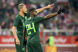 March 23, 2018 - Wroclaw, Poland - Brian Idowu (24) and William Ekong of Nigeria during the international friendly match between Poland and Nigeria at Wroclaw Stadium in Wroclaw, Poland on March 23, 2018  (Credit Image: © Andrew Surma/NurPhoto via ZUMA Press)