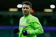 Norwich City midfielder Wesley Hoolahan (14) warming up ahead of the EFL Sky Bet Championship match between Norwich City and Barnsley at Carrow Road, Norwich, England on 18 November 2017. Photo by Phil Chaplin.
