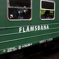 Europe, Norway, Flam. Flamsbana Flam Line Railway.