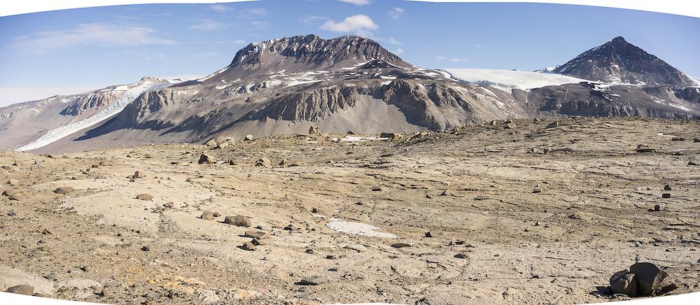 Wind eroded landscape