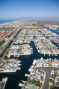 Waterfront Homes in Oxnard Aerial Photo