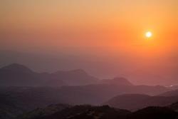 Sunrise, mountain haze, Izu, Izu Peninsula, Japan