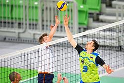 Dejan Vinčić of Slovenia during friendly volleyball match between National Men teams of Slovenia and Netherlands, on December 30, 2019, in Arena Stozice, Ljubljana, Slovenia. Photo by Sinisa Kanizaj / Sportida