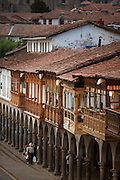 The Plaza de Armas' shops, Cusco, Peru, South America