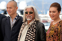 Producer, actor Wan Hanafi Su and actress Mastura Ahmad,at the Apprentice<br />  film photo call at the 69th Cannes Film Festival Monday 16th May 2016, Cannes, France. Photography: Doreen Kennedy