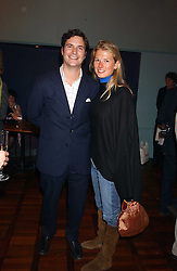 TOM & DAVINA BARBER she was Davina Duckworth-Chad, a friend of Prince William's at a party to celebrate the publication of 'E is for Eating' by Tom Parker Bowles held at Kensington Place, 201 Kensington Church Street, London W8 on 3rd November 2004.<br />