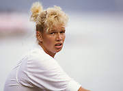 Bled, Slovenia, YUGOSLAVIA.  DDR W8+,  stroke Martina WALTHER  1989 World Rowing Championships, Lake Bled. [Mandatory Credit. Peter Spurrier/Intersport Images]