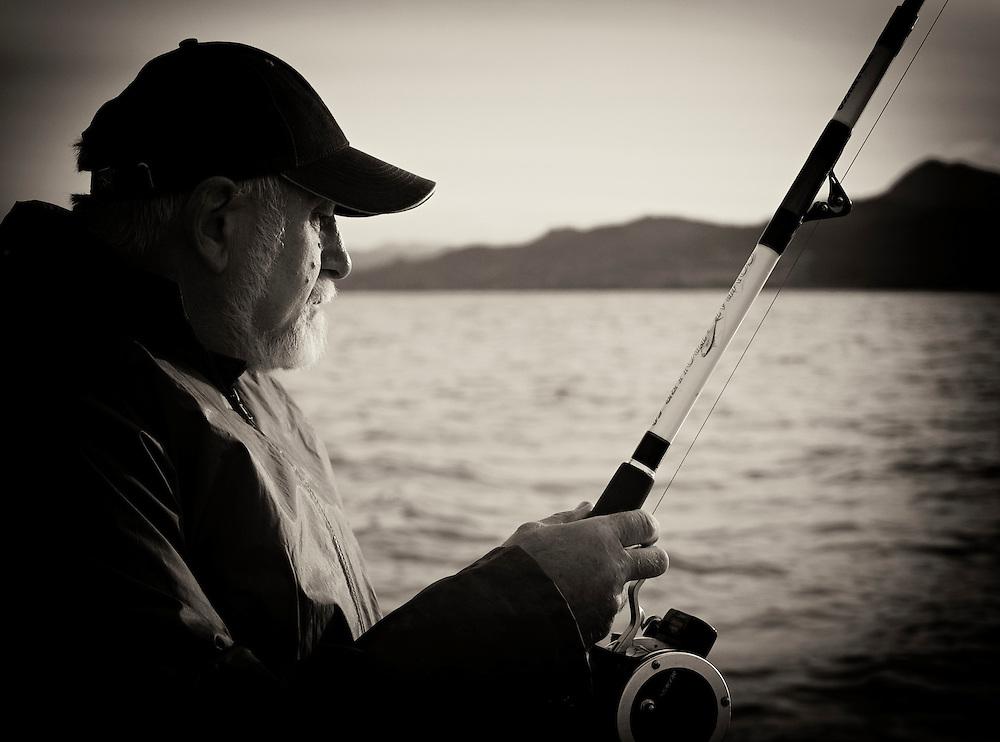 Norway - Fisherman BW