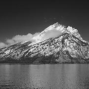 Grand Tetons - South Jackson Lake, WY - Infrared Black & White