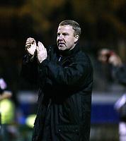 Photo: Chris Ratcliffe.<br /> Colchester United v Swansea City. LDV Vans Trophy. 14/03/2006.<br /> Kenny Jacket, manager of Swansea celebrates winning at the end