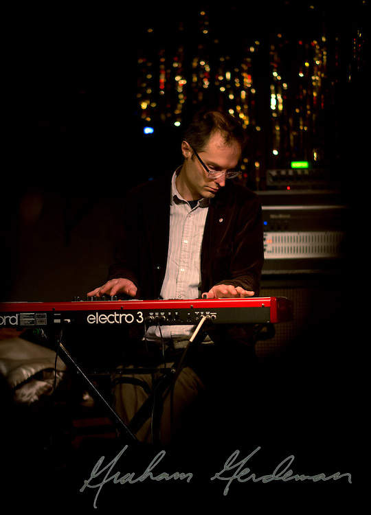 Keyboardist Tyson Rogers performs with the Jack Silverman Ordeal at the Stone Fox in Nashville, TN