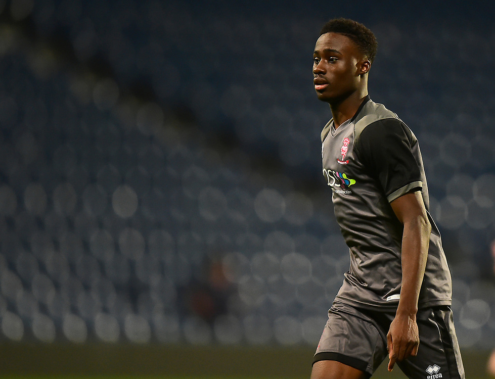 Lincoln City U18's Jordan Adebayo-Smith<br /> <br /> Photographer Andrew Vaughan/CameraSport<br /> <br /> FA Youth Cup Round Three - West Bromwich Albion U18 v Lincoln City U18 - Tuesday 11th December 2018 - The Hawthorns - West Bromwich<br />  <br /> World Copyright © 2018 CameraSport. All rights reserved. 43 Linden Ave. Countesthorpe. Leicester. England. LE8 5PG - Tel: +44 (0) 116 277 4147 - admin@camerasport.com - www.camerasport.com
