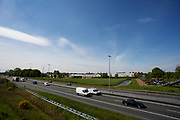 In Hoevelaken rijdt het verkeer over de A1.<br /> <br /> In Hoevelaken traffic ride on the A1 highway.
