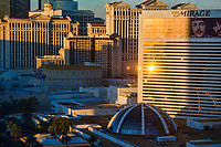 Sunlight on the Mirage & Caesar's Palace Hotels