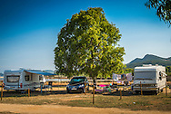 Costa Rei, Sardinia, Italy, June 2015. Camping Le Dune. Costa Rei is located on the south coast of Sardinia about 50km from Cagliari. The coastline is renowned for its crystal clear water, golden sands and long beaches. Photo by Frits Meyst / MeystPhoto.com