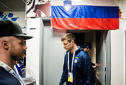 Jan Mursak of Slovenia and Jan Urbas of Slovenia in Dressing room of Team Slovenia at the 2017 IIHF Men's World Championship, on May 11, 2017 in AccorHotels Arena in Paris, France. Photo by Vid Ponikvar / Sportida