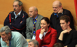 Father, mother and son Tine Urnaut at finals of Slovenian volleyball cup between OK ACH Volley and OK Salonit Anhovo Kanal, on December 27, 2008, in Nova Gorica, Slovenia. ACH Volley won 3:2.(Photo by Vid Ponikvar / SportIda).