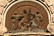 Relief above the door of the San Nicolas church in Casco Viejo, Bilbao's old town.