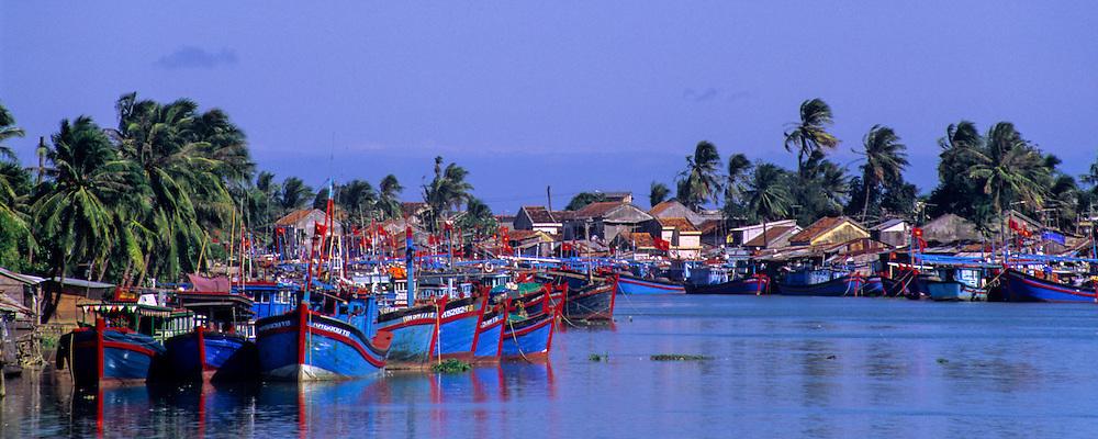 VIETNAM, NHA TRANG, harbor and fishing boats