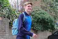 AFC Wimbledon Jack Rudoni (42) arriving during the EFL Sky Bet League 1 match between Southend United and AFC Wimbledon at Roots Hall, Southend, England on 16 March 2019.