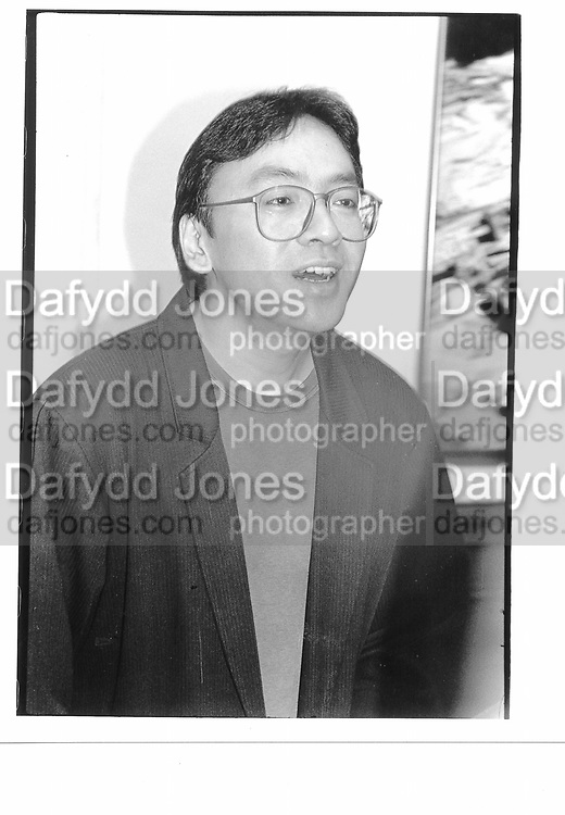 Kazuo Ishigero 92nd street Y. New York 1995 approx.© Copyright Photograph by Dafydd Jones 66 Stockwell Park Rd. London SW9 0DA Tel 020 7733 0108 www.dafjones.com