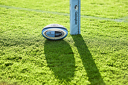 A Gallagher brand match ball - Mandatory by-line: Ryan Hiscott/JMP - 10/10/2020 - RUGBY - Sandy Park - Exeter, England - Exeter Chiefs v Bath Rugby - Gallagher Premiership Rugby Semi-Final