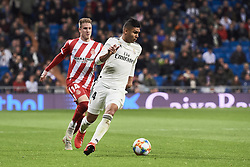 January 24, 2019 - Madrid, Spain - Casemiro (midfielder; Real Madrid) in action during Copa del Rey, Quarter Final match between Real Madrid and Girona FC at Santiago Bernabeu Stadium on January 24, 2019 in Madrid, Spain (Credit Image: © Jack Abuin/ZUMA Wire)