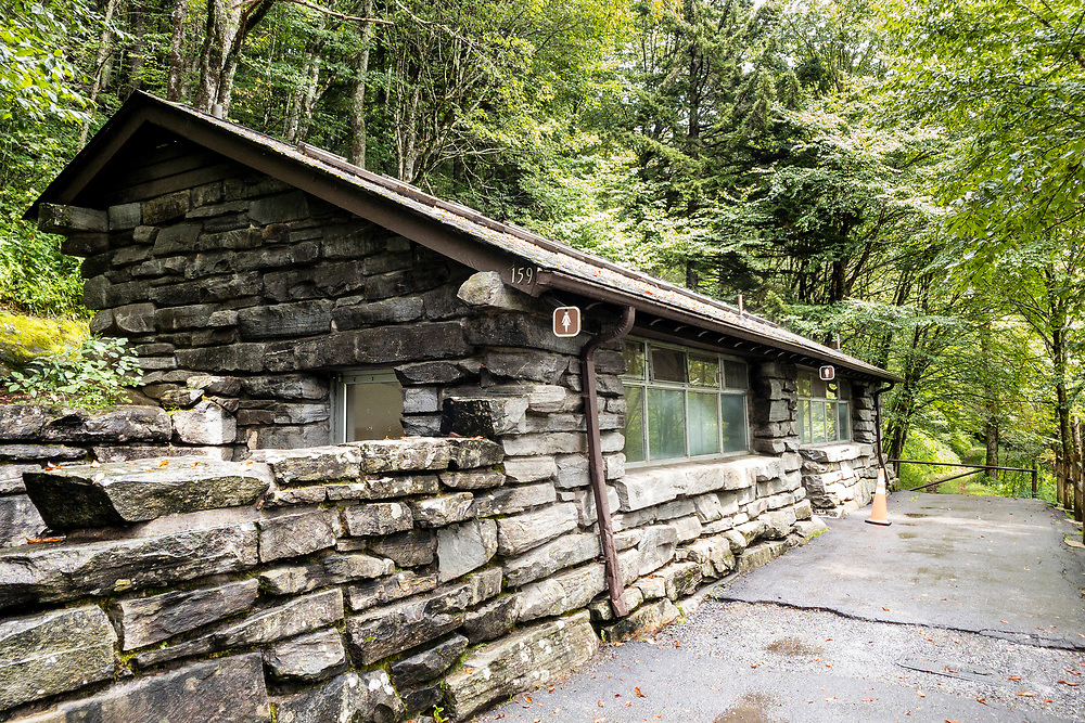 Restrooms at Newfound Gap in Great Smoky Mountains National Park in Gatlinburg, Tennessee on Thursday, August 13, 2020. Copyright 2020 Jason Barnette