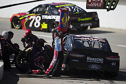 March 27, 2018 - Martinsville, Virginia, United States of America - March 26, 2018 - Martinsville, Virginia, USA: Kurt Busch (41) makes a pit stop during the STP 500 at Martinsville Speedway in Martinsville, Virginia. (Credit Image: © Chris Owens Asp Inc/ASP via ZUMA Wire)