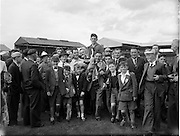 004/09/1955.09/04/1955.04 September 1955.Minor Hurling All-Ireland final  .Tipperary 5-12.Galway 2-5.The All-Ireland Minor Hurling Championship 1955 was the 25th edition of the All-Ireland Minor Hurling.  Tipperary defeated Galway by 5-15 to 2-5 in the final to win the championship.