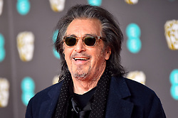 Al Pacino attending the 73rd British Academy Film Awards held at the Royal Albert Hall, London.