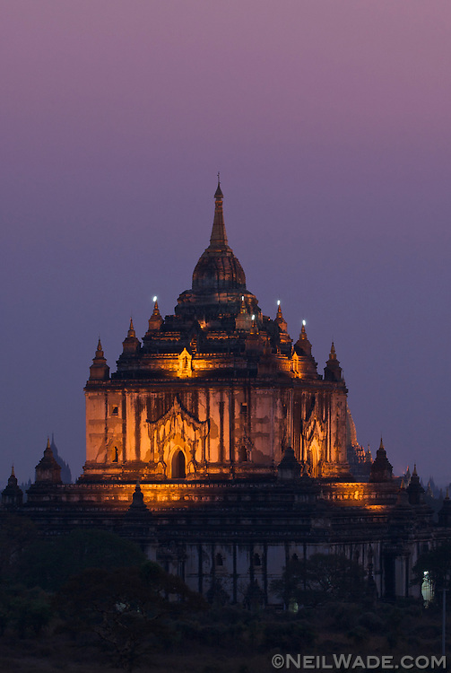 The Ananda Temple at the World Heritage site of Bagan, Mynamar (Burma)..Bagan is a UNESCO World Heritage Site. It covers an area about 7 km by 7 km and is packed with 7000+ pagodas. It was one of the world's greatest cities from around AD 850 until it's demise around the 13th century.