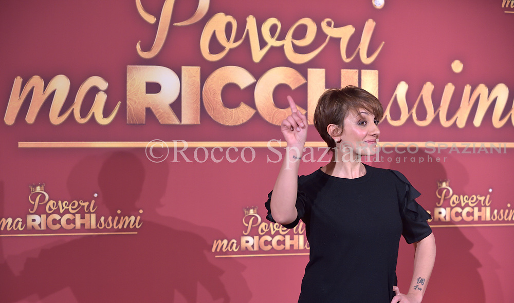 Lucia Ocone attends 'Poveri Ma Ricchissimi' photocall on December 11, 2017 in Rome, Italy.