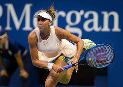 September 5, 2018 - Madison Keys of the United States in action during her quarter-final match at the 2018 US Open Grand Slam tennis tournament. New York, USA. September 05, 2018. (Credit Image: © AFP7 via ZUMA Wire)
