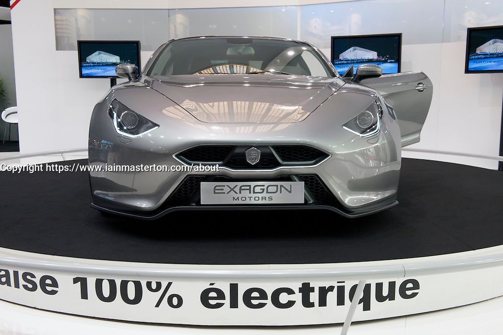 Electric sports car Exagon on display at Paris Motor Show 2010