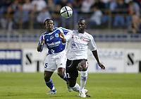 Fotball<br /> Frankrike 2004/05<br /> Strasbourg v Istres<br /> 28. august 2004<br /> Foto: Digitalsport<br /> NORWAY ONLY<br /> MOUSSA N'DIAYE (IST) / ARTHUR BOKA (STR)