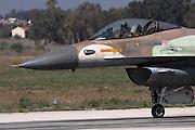 Israeli Air Force (IAF) F-16C Fighter jet at take off