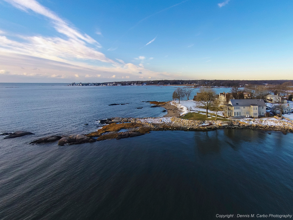 Waterfront estate 400' offshore at 100'altitude