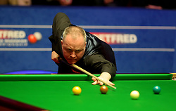 John Higgins on day seventeen of the 2018 Betfred World Championship at The Crucible, Sheffield.