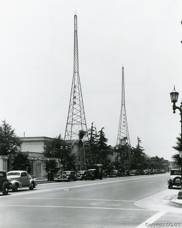 1938 KFWB Radio on Sunset Blvd.